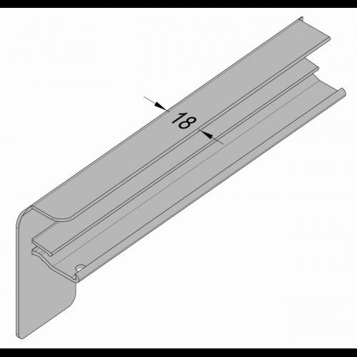 Aluminium Fensterbank RAL 7016 Anthrazitgrau 225 mm Ausladung Außenfensterbank